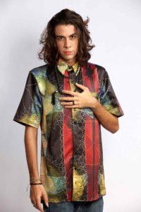Camisa masculina vinho e sol