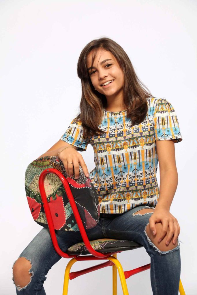 Camiseta feminina amarela